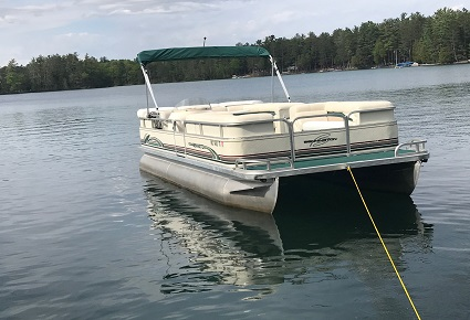 Pontoon Boat Rental Clear Lake West Branch Michigan