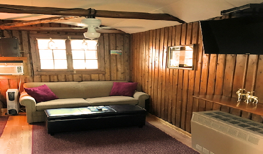 Lake Front Cabin Five Living Area with Full Size Sofa Bed